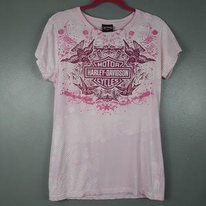 Harley-Davidson Pink t-shirts with logo